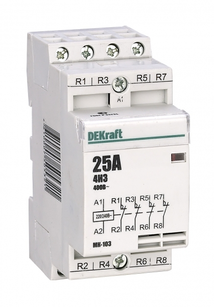 18063DEK Модульный контактор 4НЗ 20А 230В МК-103 DEKraft Schneider Electric